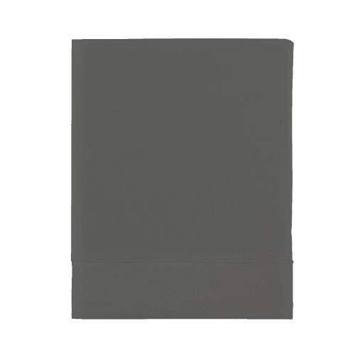 Essix Home Collection Lenzuola con Angoli, Percalle di Cotone, Antracite, 240 x 300 cm