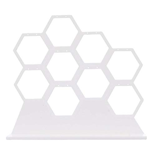 Jewelry Storage Holders, Natural Wood White Honeycomb Jewelry Earrings Necklace Storage Rack Holder Jewelry Display Stand Up