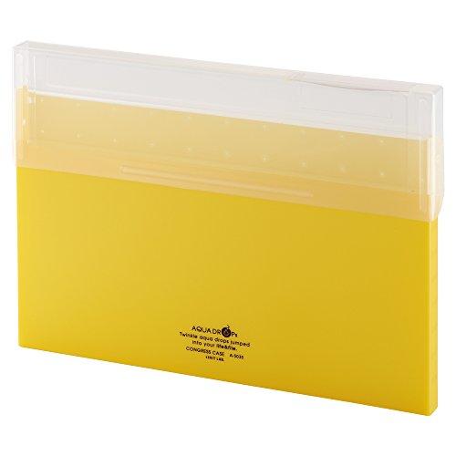 リヒトラブ コングレスケース A4 薄型 黄 A5035-5
