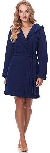 Merry Style Batas con Capucha Vestidos de Casa Ropa Mujer M4N3Q52 (Azul Oscuro, XXL)