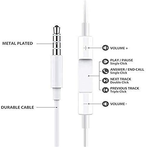 【2Pack】para Auriculares con iPhone para Auriculares de 3.5 mm, Auriculares con micrófono y Control de Volumen para Auriculares iPhone Auriculares compatibles con iPhone 5s/6plus/6/6s, Android, PC