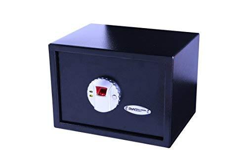 Trimate Fingerprint Safe box, cassaforte per gioielli, pistola, contanti oggetti di valore, include chiavi di emergenza