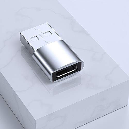 Nething Adaptadores USB Micro, USB 2.0 3.0 Tipo C (Type-C to USB 2.0, Silver)