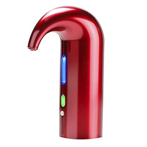 Aireador de vino rojo, dispensador eléctrico, multi-Smart automático, dispensador recargable, boquilla de agua, bomba de vino eléctrica (rojo)