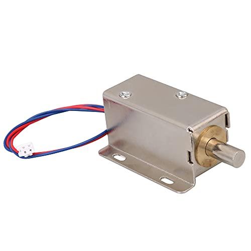 DC24V 0.6A 7.5W Hub 10mm TFS-A21 Elektroschloss Magnetfeilenschloss Rundkopfverriegelung Silber für Schranktür