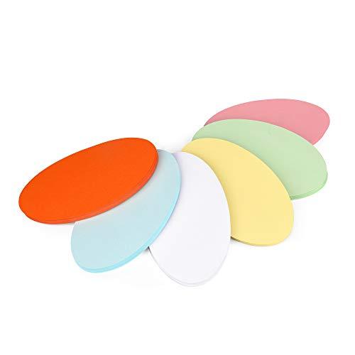 ewtshop® 250 Stück Moderationskarten oval 19 x 11 cm - 6 Farben - für professionelle Präsentation Gesprächsleitung Moderation