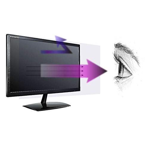 Anti Blue Light Screen Protector (3 Pack) for 20 Inches (Screen Measured Diagonally) Desktop Monitor. Screen Protector Size is 17.4 inches width x 9.8 inches height. Filter out Blue Light and relieve computer eye strain to help you sleep better