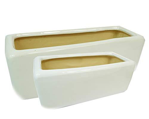 Zelda Bomboniere Bac Glossy 2 mesures en terre cuite émaillée.