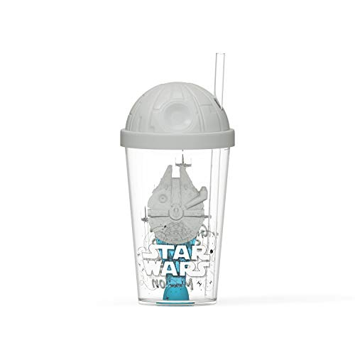 Zak Designs Copo esculpido Star Wars Ep4 de 650 ml, feito de plástico durável, exclusivo copo de tesouro (episódio SW IV Filme Millennium Falcon, livre de BPA)