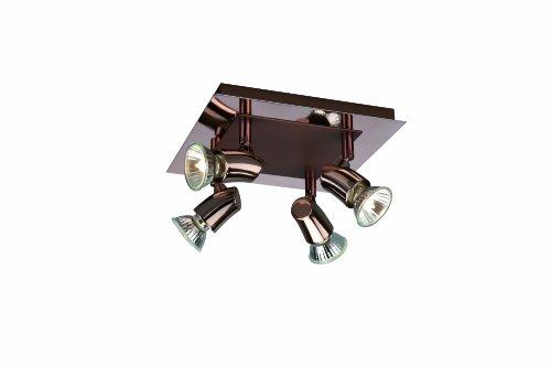 Massive 556180510 Lipo Plafonnier 4 x 50 W GU10 230 V Cuivre