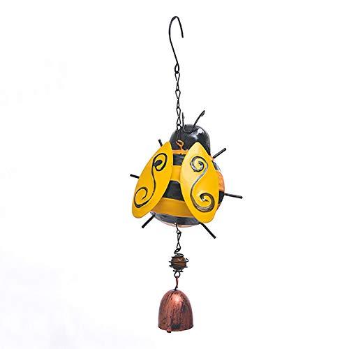 3D Metal Ladybug Honeybee Wind Chime, Móvil Colgando Viento Chime Garden Colgando Bell Wind Chime Rustic Home Ornaments para al Aire Libre Interior jardín jardín Decoración