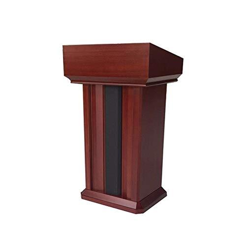 DLSMB Podium Sprechen Schreibtisch Empfang Tischmassivholz Einfache Podium for Kirche, Schule oder Universität Rednerpult (Color : Red, Size : One Size)