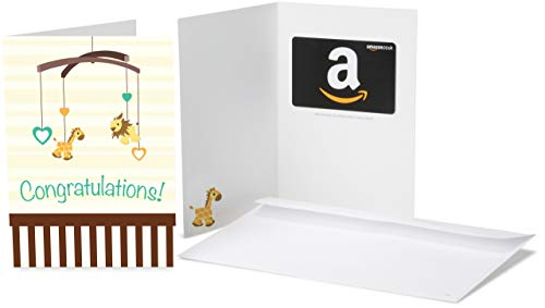 Amazon.co.uk Gift Card for Any Amount in a New Baby Congratulations Greeting Card