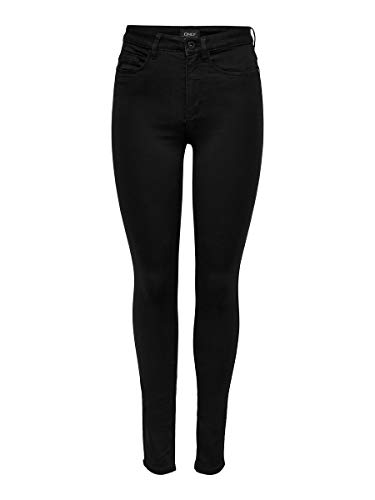 ONLY Damen Onlroyal High Sk Pim600 Noos 15093134 Jeans, Schwarz, EU S/32