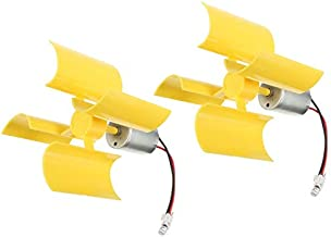 DC 0.1V-5.5V 100-6000RPM Micro Vertical Wind Turbines, Small Motor Blades Generator for DIY (1pc) (2pc)