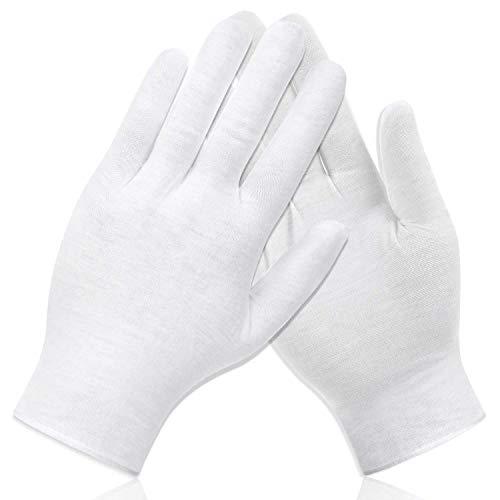 HusDow 10 paar vochtinbrengende handschoenen overnacht voor het slapengaan katoenen handschoenen voor eczeem droge gevoelige geïrriteerde huid Spa