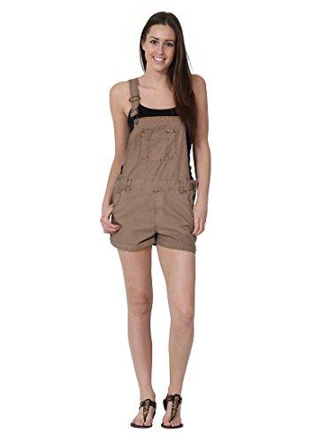 USKEES Anna - Loose Fit Latzshorts Oversized Damen Kurze Bib Shorts ANNABEIGE-14