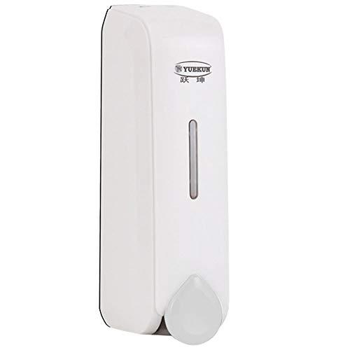 LDDLDG Dispensador de Jabón Bomba de jabón Dispensador de jabón líquido Blanco/Negro/Gris (Color : White)