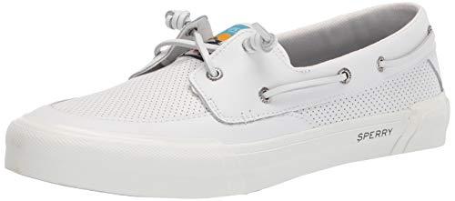 Sperry womens Soletide 2-eye Boat Shoe, White, 8 US