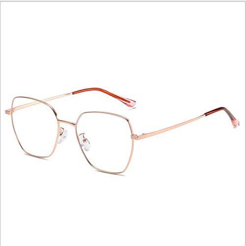 Nuevas Gafas De Sol De Moda con Montura Grande Gafas De Luz Anti-Azules Luz De ModificacióN De Cara Irregular Y Espejo Plano para Mujer,A