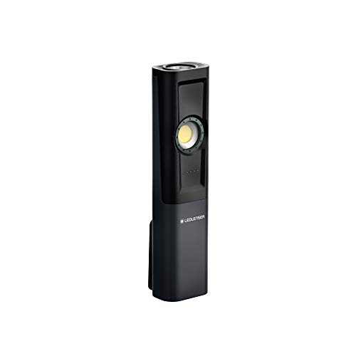 Ledlenser iW5R Luz de trabajo LED recargable de alta potencia, 300 lúmenes, carga rápida, accesorio de luz flexible