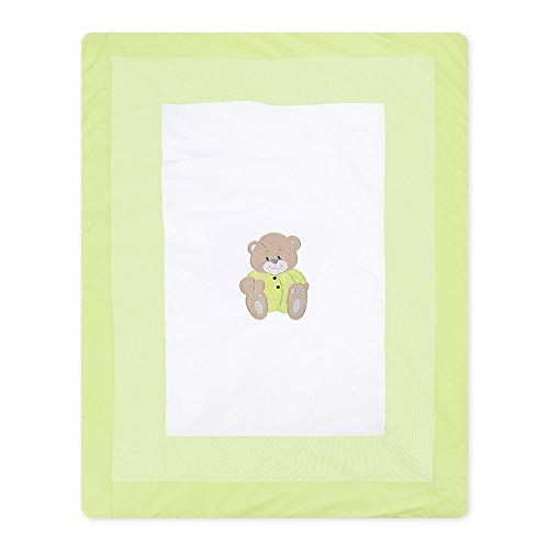 Memi - Manta para bebé (100 x 135 cm), color verde