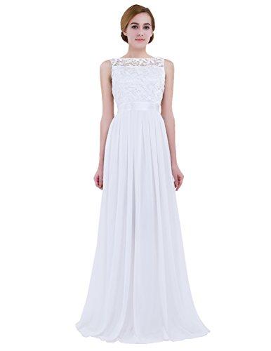 iEFiEL Vestito da Cerimonia Donna Elegante in Chiffon Vestito da Sera Festa Compleanno Vestito...