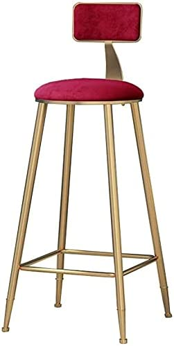 Wddwarmhome Metal High order Bar Stools Counter Flannel Ranking TOP1 65cm Height in 75cm