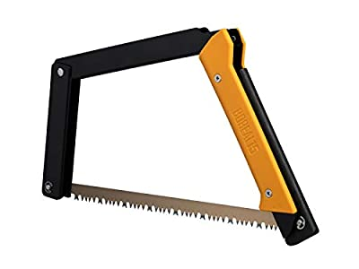 AGAWA - BOREAL15 -> 15 Inch Folding Bow Saw (Black Frame - Yellow Handle - All Purpose Blade)
