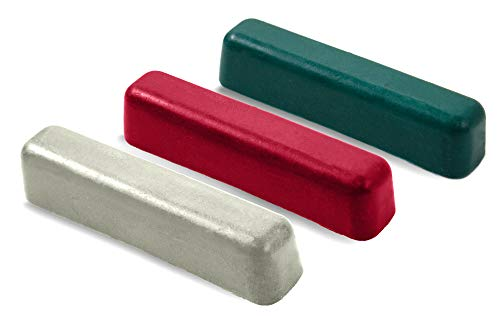 BeaverCraft Schärfset mit 3 Poliermitteln – Poliermasse zum Schärfen von Messern – Polierpaste für Lederstreifen (Set #3)