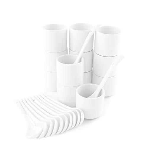 Holst Porzellan Porzellan Eierbecher-Set Eierring mit Löffel 24-TLG, 12 Eier