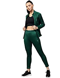 CHKOKKO Trendy Women Track Suit Set Gym Sports Tracksuit Combo of Track Pant Zipper Jacket
