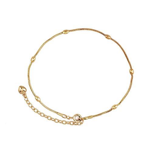 Yinew Perle Herz Anhänger Fußkettchen Armband Sandale Strand Barfuß Fuß Kette Schmuck Zubehör Für Frauen, Gold
