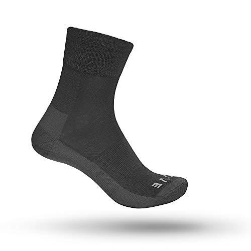 GripGrab Merino Lightweight SL Fahrrad Socken mit Merinowolle Atmungsaktive Gemütliche Ganzjahres Radsport Strümpfe, Grau, L (44-47)