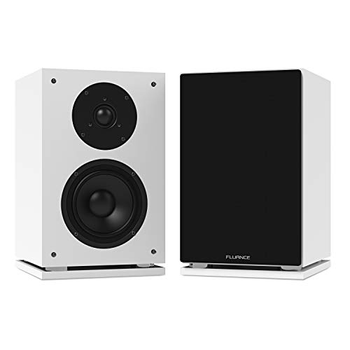 Fluance SX6WH High Definition Two-Way Bookshelf Loudspeakers - White
