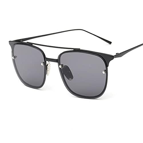 CHSDN Gafas de Sol Retro cuadradas, Lentes de Color, Gafas de Sol translúcidas, Suministros de sombrilla,A5