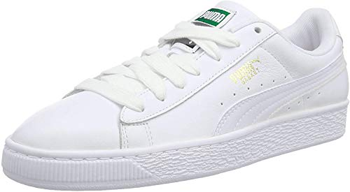 PUMA Basket Classic LFS, Zapatillas Unisex Adulto, Blanco (White/White), 46 EU