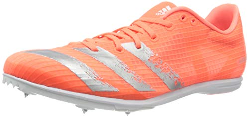 adidas Mens Distancestar Track and Field Shoe, Signal Coral/Signal Coral/Silver Metallic, 41 1/3 EU