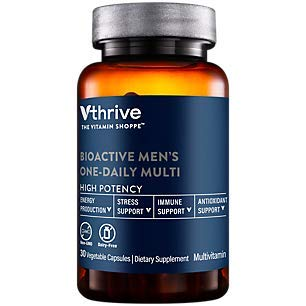 Bioactive Multivitamin for Men Once Daily Supports Stress, Healthy Aging (30 Vegetarian Capsules)