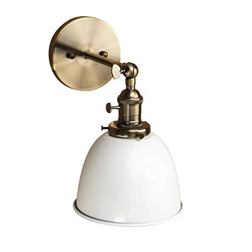 WHSS Lámpara De Iluminación De La Lámpara De La Lámpara De La Pared De La Lámpara De La Lámpara del Loft De La Barra del Desván Industrial del Vintage Industrial E27 (Blanco) Apliques