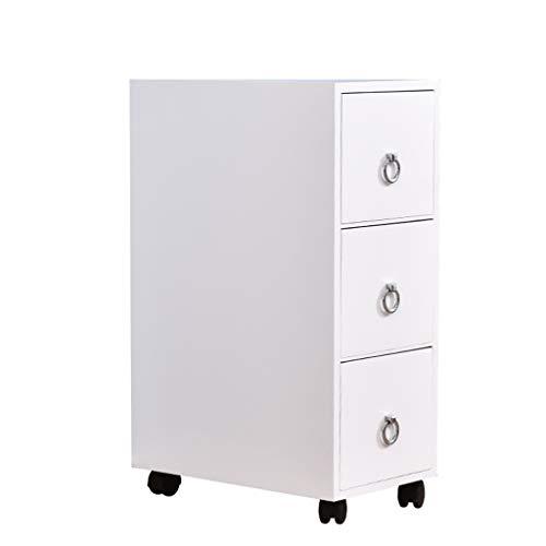TXXM manufacture Cajonera de almacenamiento con costuras de madera maciza, armario de almacenamiento para baño, cocina (color: blanco, tamaño: 25 cm)