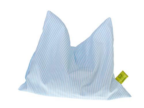 Miniblings Kräuterkissen Schlafkissen Erkältung 23x18cm hellblau gestreift