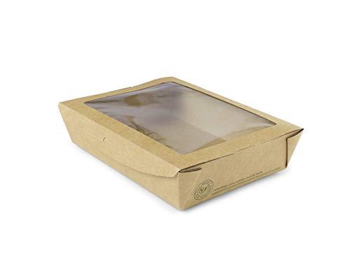 Vegware 01vwsalad grande ventana caja de ensalada, 32oz (Pack de 300)