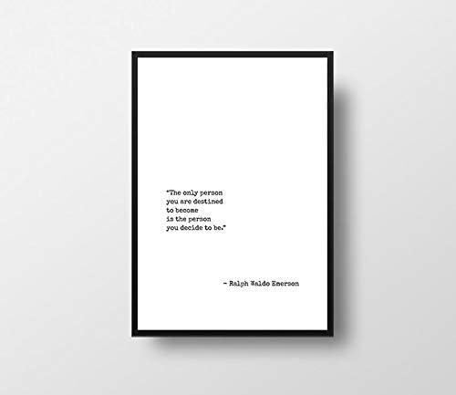 24 Decembre Destiny Quote Ralph Waldo Emerson Emerson Destiny Print Success Art Print Positive product image
