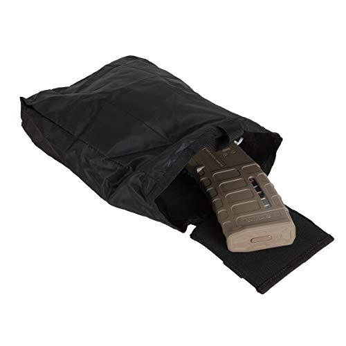 Tasmanian Tiger Magazintasche TT Dump Pouch Light, Black, 10 x 10 x 1 cm, 0.1 Liter, 7643