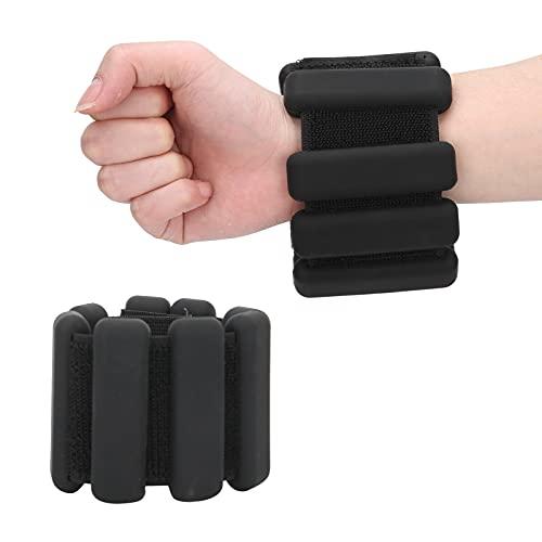 2 piezas de pulsera de silicona con peso para la muñeca, 1 bl con pesas en los tobillos, pulsera de peso para llevar, anillo, pulsera para hacer ejercicio, caminar, correr, yoga, aeróbic, pilates