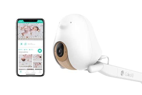 Cubo AI Babyphone Intelligent et 3 Supports | Caméra Vision Nocturne HD avec alertes I.A. pour la sécurité de bébé, Analyses du Sommeil et Audio bidirectionnel | iOS, Android et Maison intelligentes