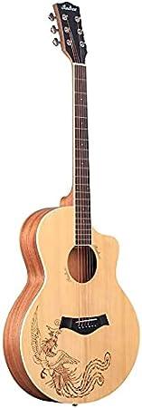 SLZFLSSHPK Guitarra acustica Guitarra Clasica Guitarra acústica Cutaway para Principiantes Guitarra acústica Popular Mate de 40 Pulgadas para Principiantes Introducción a la práctica