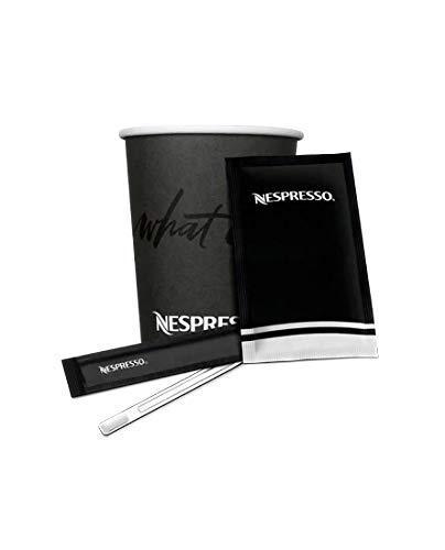 Cia&Co Packung Nespresso Lungo / Largo / con Leche, 120 Nespresso Pappbecher 240 ml + 100 Umschläge Nespresso-Zucker (8 Gramm) + 100 Nespresso-Paletten Einzeln verpackt.
