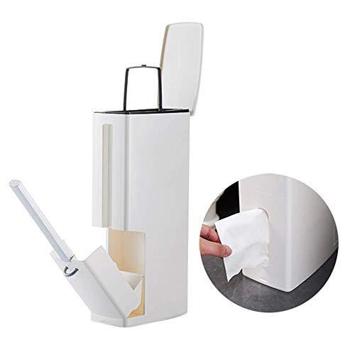 Lelestar Juego de escobilla de inodoro y cubo de basura, soporte para...